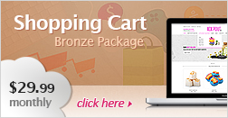 Shopping Cart Bronze Package